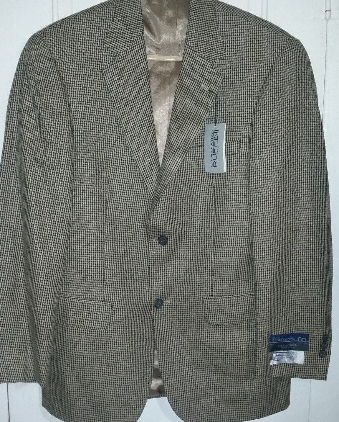 NEW w TAGS Gianfranco Ruffini  Silk Wool Blazer Sport Coat  Herren Größe 38 R