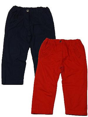 Jeans Mädchen Hose gefüttert 62 68 74 80 86 Baby Thermohose blau oder rot