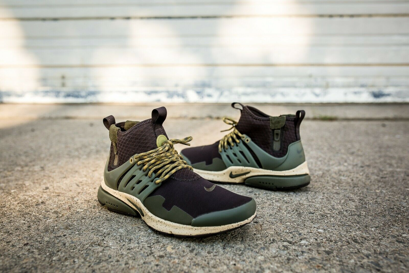 Nike Air Presto Mid Utility Size 8 Velvet Brown Cargo Khaki Men shoes 859524-200