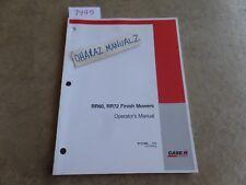 Case Rr60 Amp Rr72 Finish Mower Operators Manual 87757962