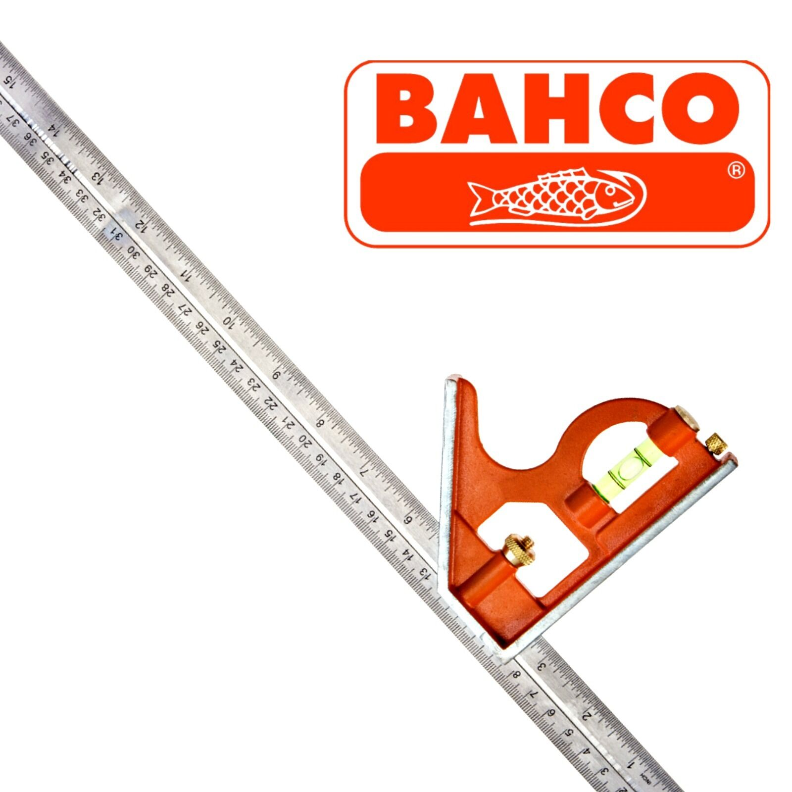 Bahco CS400 Combination Set Square 400mm 16 Inch Metal Body Steel Rule Adjusts