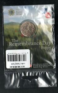 2010 Royal Mint REMEMBRANCE DAY POPPY Medal / Token British Legion Sealed Pack