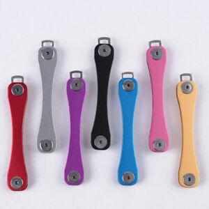EDC Gear Aluminum Key Holder Organizer Folder Keyring Keychain Case Pocket Tool