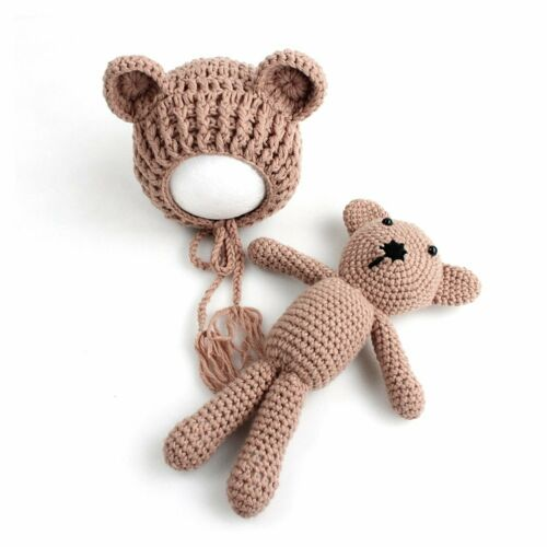 UK Newborn Baby Boy Girl Knitted Crochet Costume Photography Prop Outfits Hats