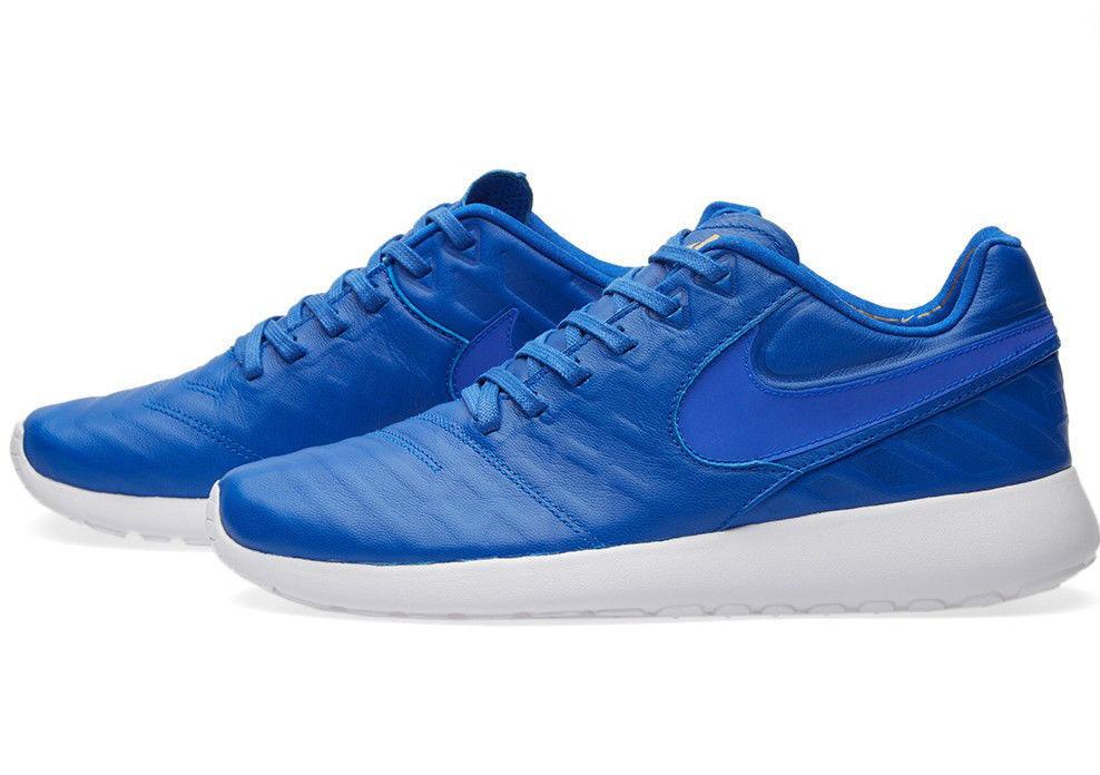 bnib Nike Roshe Tiempo VI QS8.5 Racer Blue Racer Blue-Metallic Gold-White