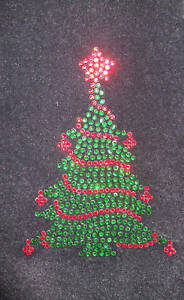 Christmas-Tree-iron-on-hotfix-rhinestone-diamante-craft-transfer-applique-patch