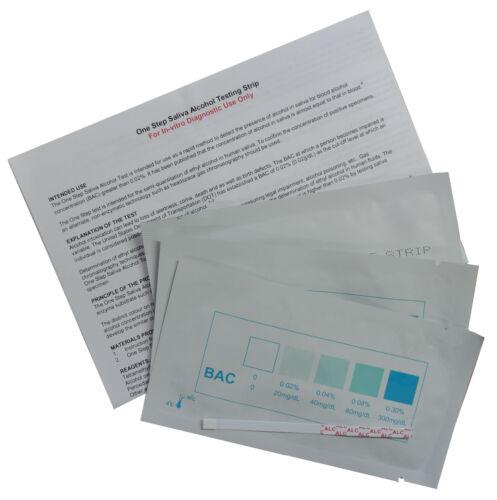 5 x Alcohol Tester Strips Saliva Test Testing Kits BAC Instant Screening Kit