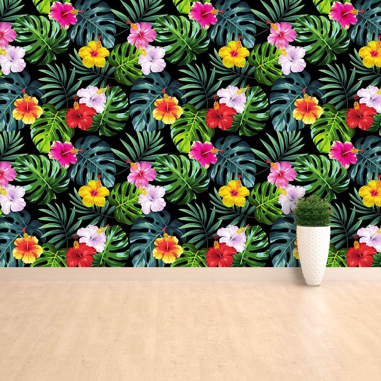 Fototapete Selbstklebend Einfach ablösbar Mehrfach klebbar Blätter und Blumen