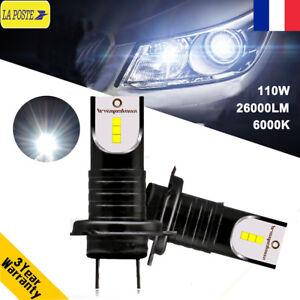 Lampe Sur Voiture Feux Détails Phare H7 Kit Csp Remplacer Ampoule Xénon 110w Led 26000lm E2H9DI