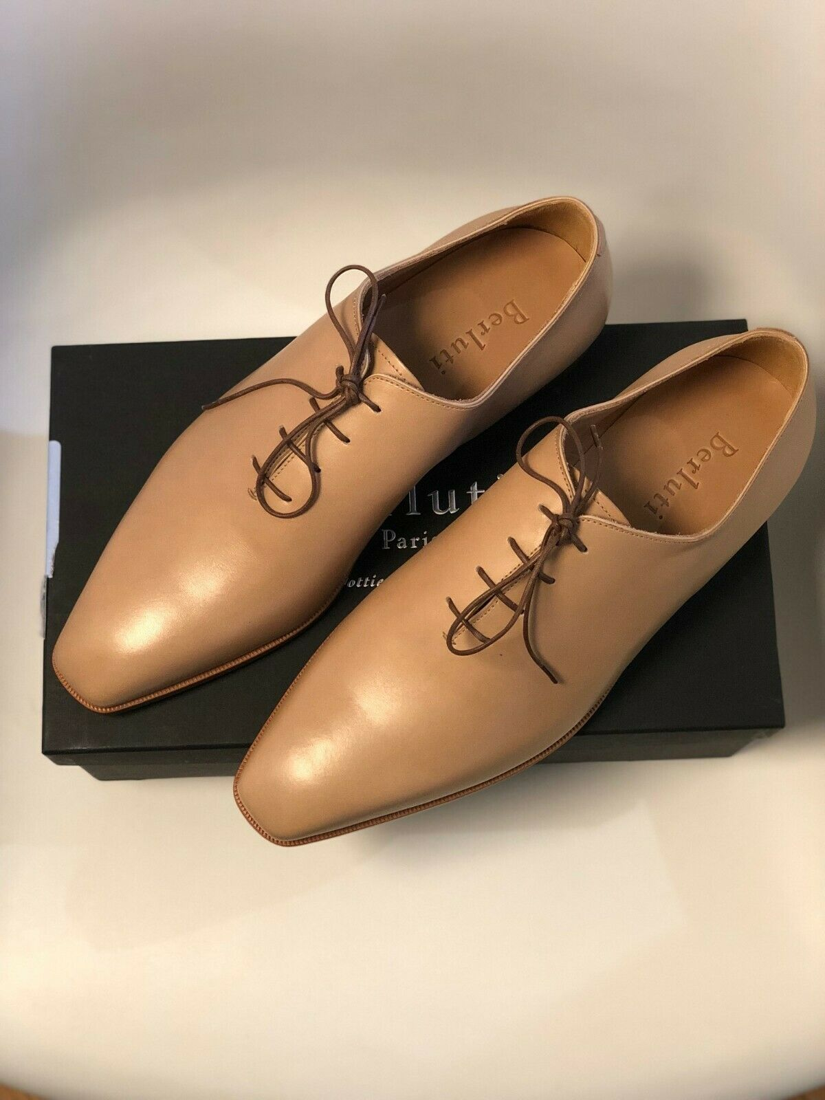 Berluti Neuf Alessandro Capri Venezia Leather Nature 7.5