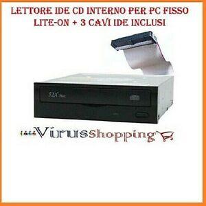Lettore CD interno per PC lite on LTN-ON black + 3 Cavi IDE inclusi