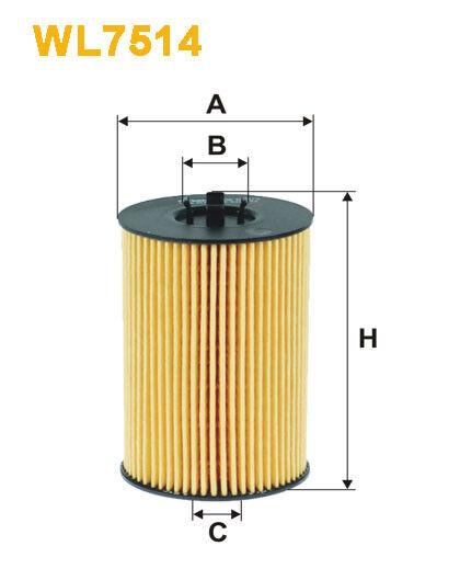 WIX WL7514 Filtro de Aceite Eco Cartucho Recambio HU7020z CH11675ECO OX787D