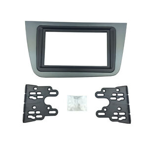 2-Din-Radio-Fascia-for-Seat-Altea-Toledo-Stereo-Panel-DVD-Dash-Mount-Frame-Kit