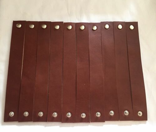Leather bracelet blanks 15 Pack 8 oz Medium Brown 1 inch X 7 to 11 inch