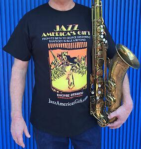 T-Shirt JAZZ America's Gift-Miguel Covarrubias Illustration-George Gershwin