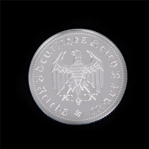 1Pcs Silver-Plated Coins Hindenburg President Commemorative Coin GiftFB
