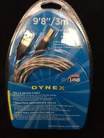 Dynex 9'8 Usb 2.0 Device Cable - Nip