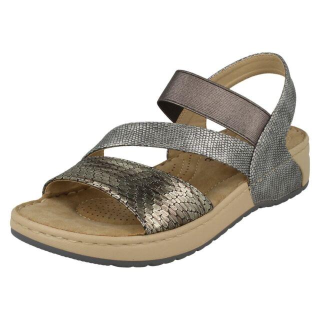9ade81bf9a Ladies Rieker Sandals Label V5773 Metallic UK 4 Standard for sale ...