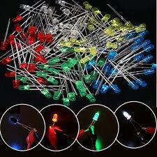 100PCS 3mm 2Pin Mix Colors Light Emitting LED Diode Assorted Set 20mA
