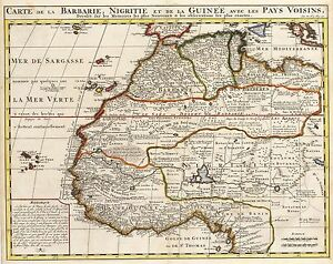 1719 Map Of Western Africa By Chatelain Ebay