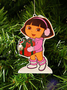 DORA THE EXPLORER wJINGLE BELL TIN DECORATION CHRISTMAS TREE