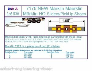 e51219969f3f EE 7175 New Pair Marklin HO Sliders Pick Up Shoes 3rd Rail Power ...