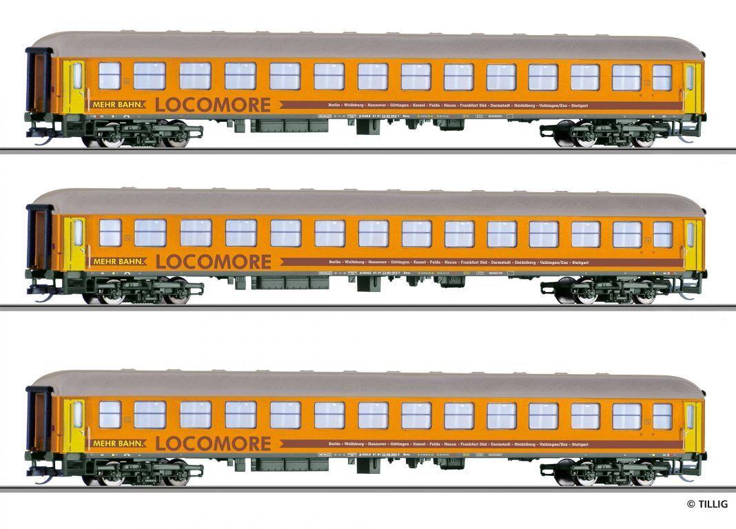 Hs Tillig 01779 reisezugwagenset la tres locomore los turismos TT