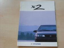54262) Hyundai Pony X2 UK Prospekt 199?