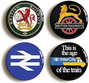 4-x-BRITISH-RAIL-RAILWAYS-RETRO-LOGO-BADGES-BUTTONS-PINS-1inch-25mm-diameter