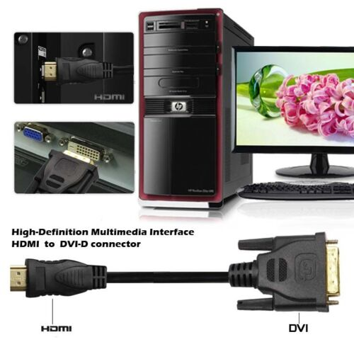 Type A Super 4K High Speed 6FT HDMI to DVI For HDTV Apple TV Smart TV PS3 PS4