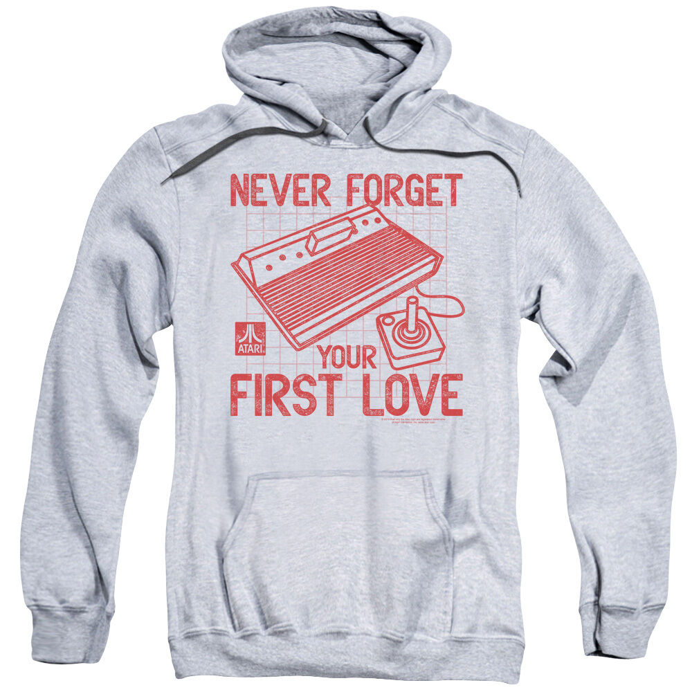 Atari 2600 FIRST Never Forget Your FIRST 2600 LOVE Licensed Sweatshirt Hoodie 382fcf