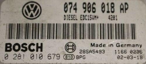 VW T4  2.5TDI AJT 88BHP BOSCH ECU 074906018AP TUNED REMAPPED IMMO OFF 0281010679