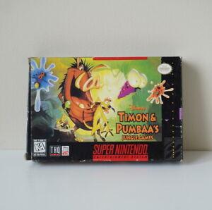 Disney-Timon-Pumbaa-039-s-Jungle-SNES-Super-Nintendo-Game-Complete-NTSC