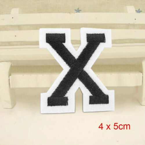 Letter A-Z Embroidered Motif Applique Iron On Patch Sew Clothing DIY JP