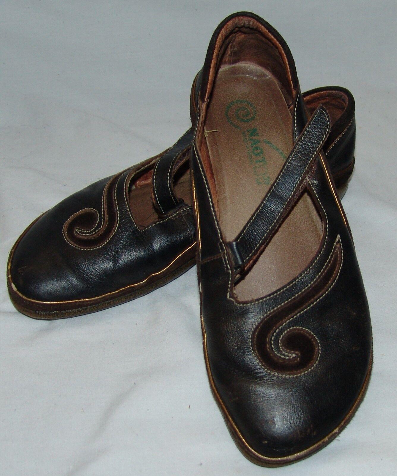 Naot Damenschuhe Braun Schuhes 39 8 Matai Mary Jane Swirl Flats