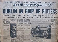 Dublin Riots March 23 1920 Troops Clash with Civilians Original Paper Ireland B5