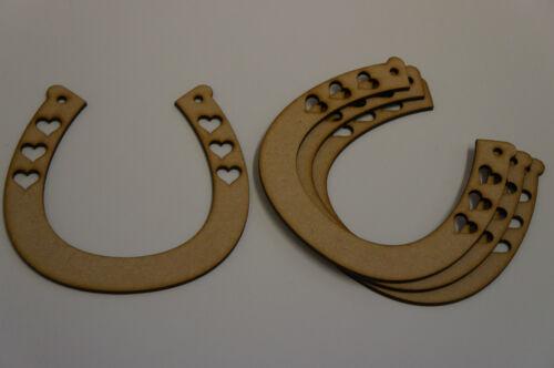 4 X Herradura Tres Corazones 11.5 x11.5 cm//115x115mm Mdf Corte Láser De Madera Forma