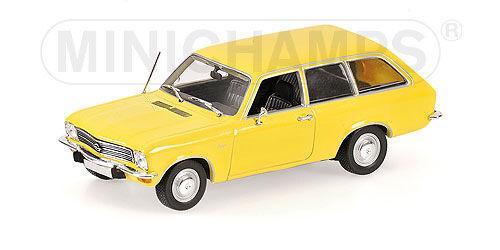 Minichamps 400 045 811-opel ascona voyage - 1970-yellow 1 43