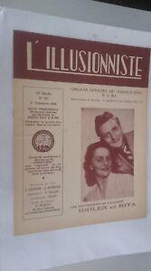 EL ILUSIONISTA Revista Dibujada N º 187 20è Annee 2E Cuarto 1954 ABE