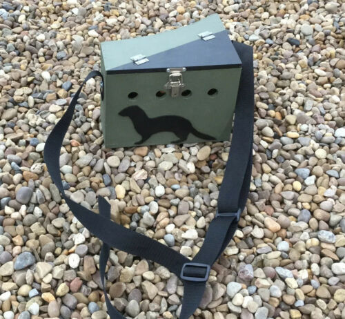 FERRET BOW BACK CARRY BOX LIGHTWEIGHT POACHERS STYLE SMALL SINGLE PAINTED