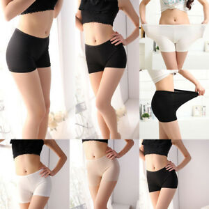 Safety-Shorts-Women-Lady-Pants-Leggings-Seamless-Basic-Plain-Underwear-039