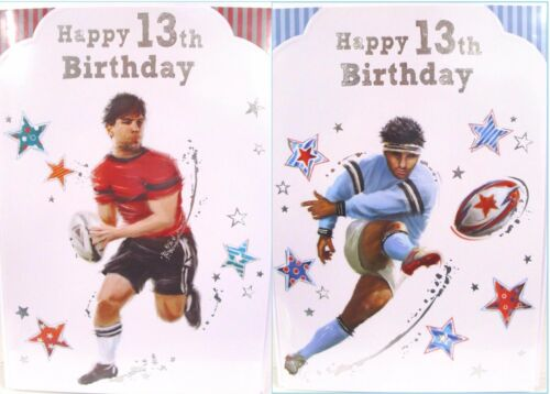 "Boy/'s /""13 th Rugby Themed/"" Birthday Cards"