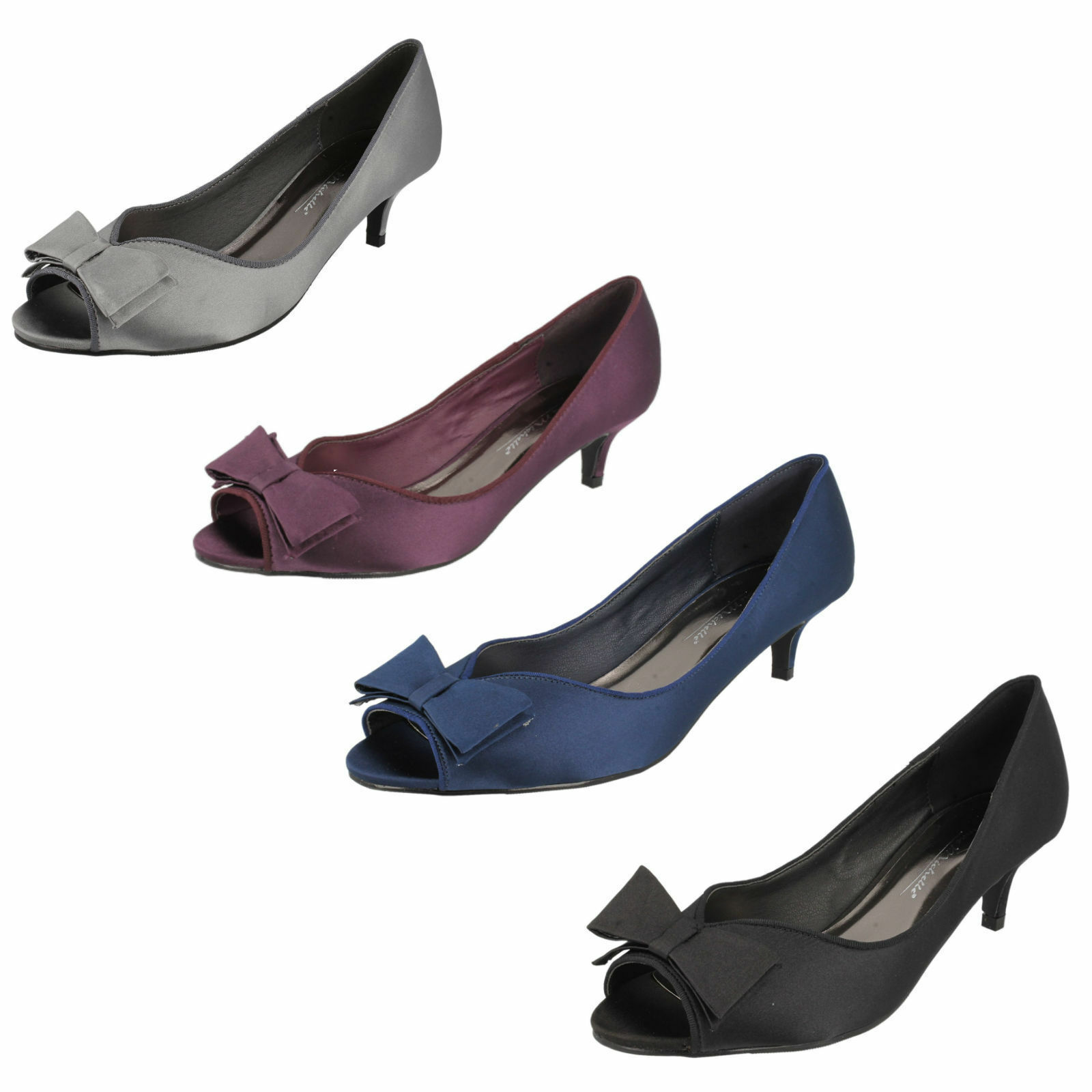 Anne Michelle Satin Evening/Occasi<wbr/>on Shoes F10308