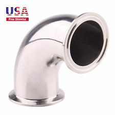 2 Tube Od Sanitary Ferrule Elbow 90 Degree Pipe Fitting Ss304 Tri Clamp 2