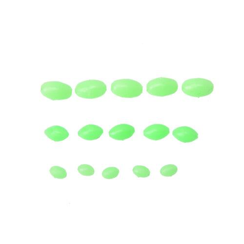 10ZJYB 8mm 100X Perlen Rigs machen weiche leuchtende Fisch Bead geformt 5mm