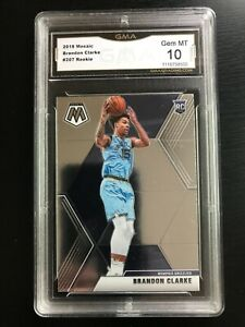 2019-20 Panini Mosaic Brandon Clarke Rookie #207 GMA 10 Gem Mint GRIZZLIES RC