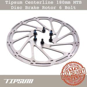 Tipsum-Centerline-MTB-Disc-Brake-Rotor-180mm-6-Bolt-Fit-Shimano-Sram-TRP-Brake