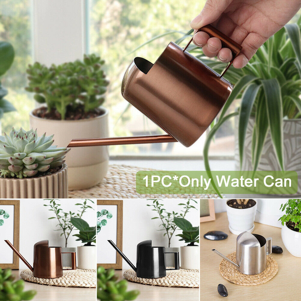 300ml Long Mouth Stainless Steel Water Can Plants Pot With Handle Easy Refill