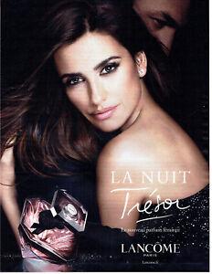 Advertising La 098 Trésor Penelope 2015 Lancomeamp; Publicité Nuit Parfum Détails Sur Cruz qMpGSzVU