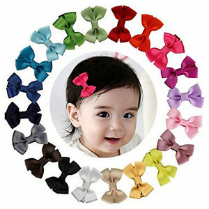 20PCS-Baby-Girls-Hair-Bows-Boutique-Alligator-Clip-Grosgrain-Ribbon-Hairpins